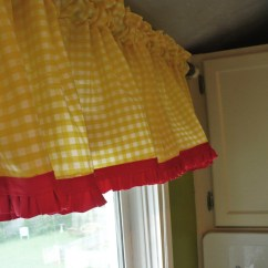 Red Valances For Kitchen Windows Digital Scales Making My More Summery A Cultivated Nest