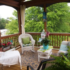 Screen Porch Lounge Chairs Swivel Chair Base Repair Screened Decorating A Cultivated Nest