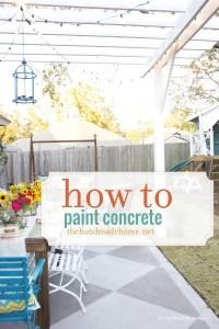DIY Saturday: Painted Concrete Patio