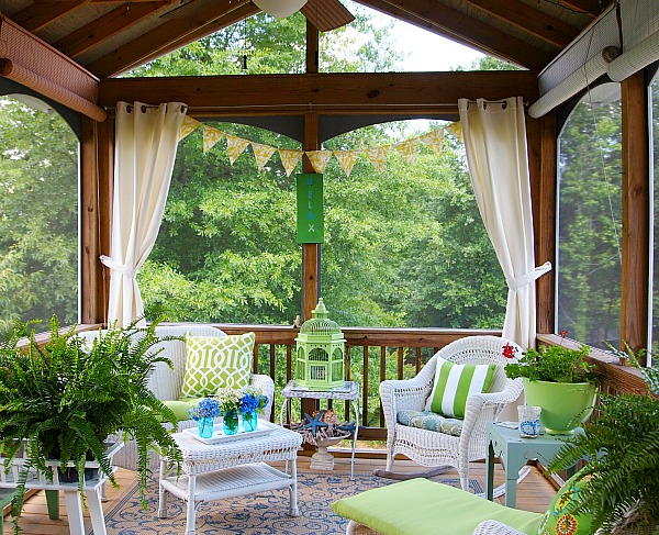 join me in the screened porch a