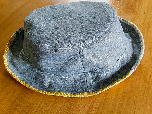 DIY denim sun hat