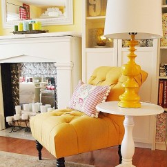 Tufted Yellow Chair Minnie Table And Set My French A Cultivated Nest Cottage Style Decor Accent