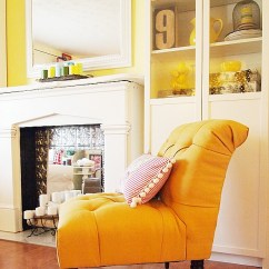 Tufted Yellow Chair Herman Miller Eames Repair My French A Cultivated Nest Side View Of Accent