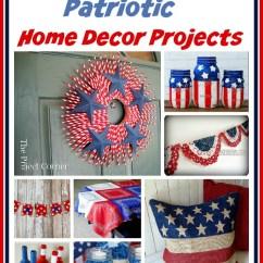 Kitchen Makeover Ideas Under Sink Organizer 15 Creative Patriotic Diy Home Decor Projects- A ...