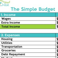 Printables. Free Simple Budget Worksheet. Mywcct Thousands ...