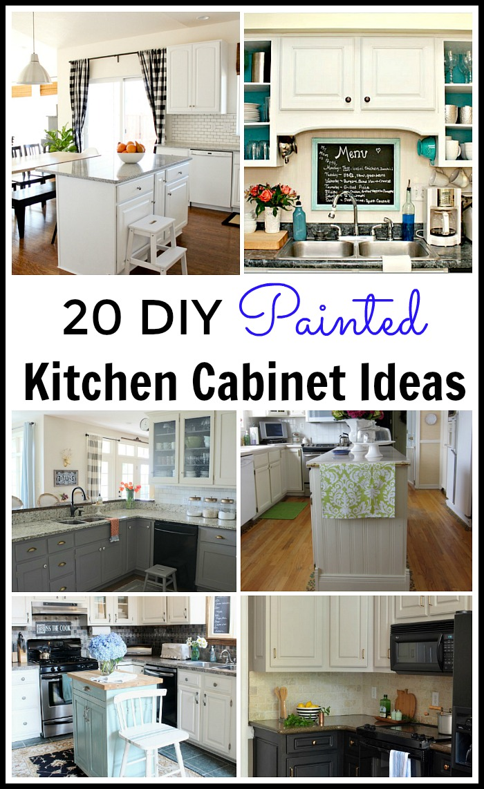 diy kitchen cabinet pantry 20 painted kichen ideas lots of great tutorials everything you want to know about how