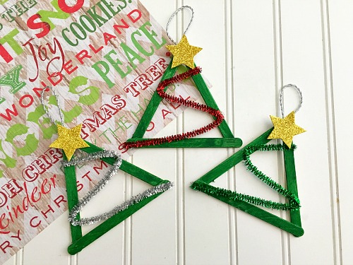 Popsicle Christmas Tree Ornaments