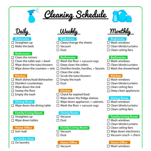 Warehouse cleaning checklist download now; Keep Your Home Clean With A Printable Cleaning Schedule