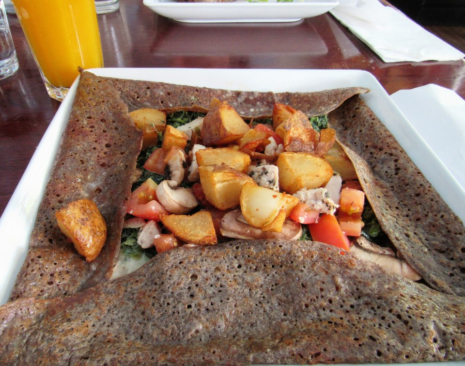 Chicken-Spinach Galette (with potatoes added)