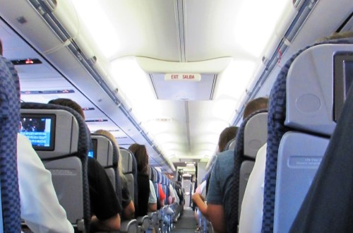 Inside of our airplane