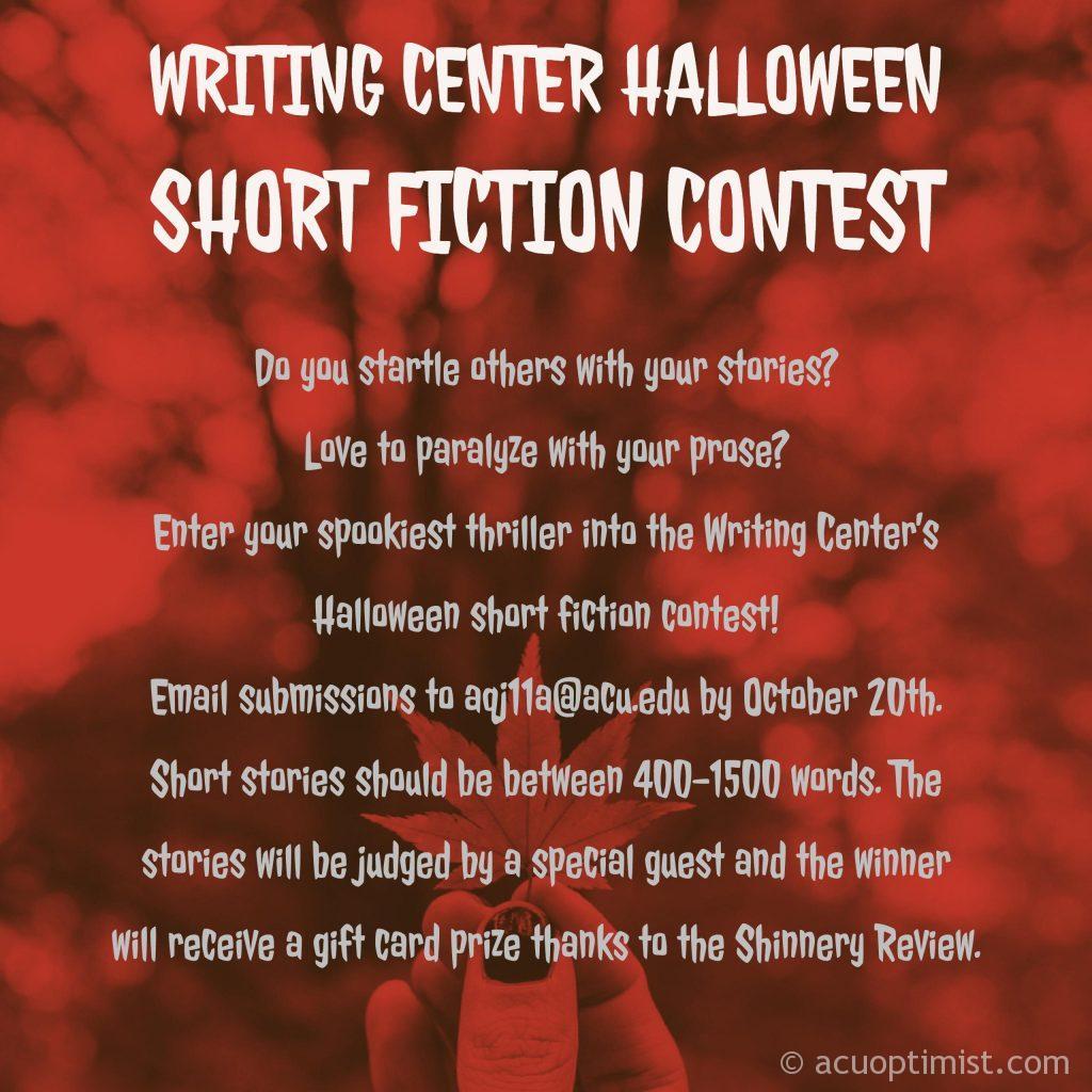 Writing Center Hosts Halloween Short Story Contest