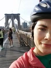biking over the brooklyn bridge