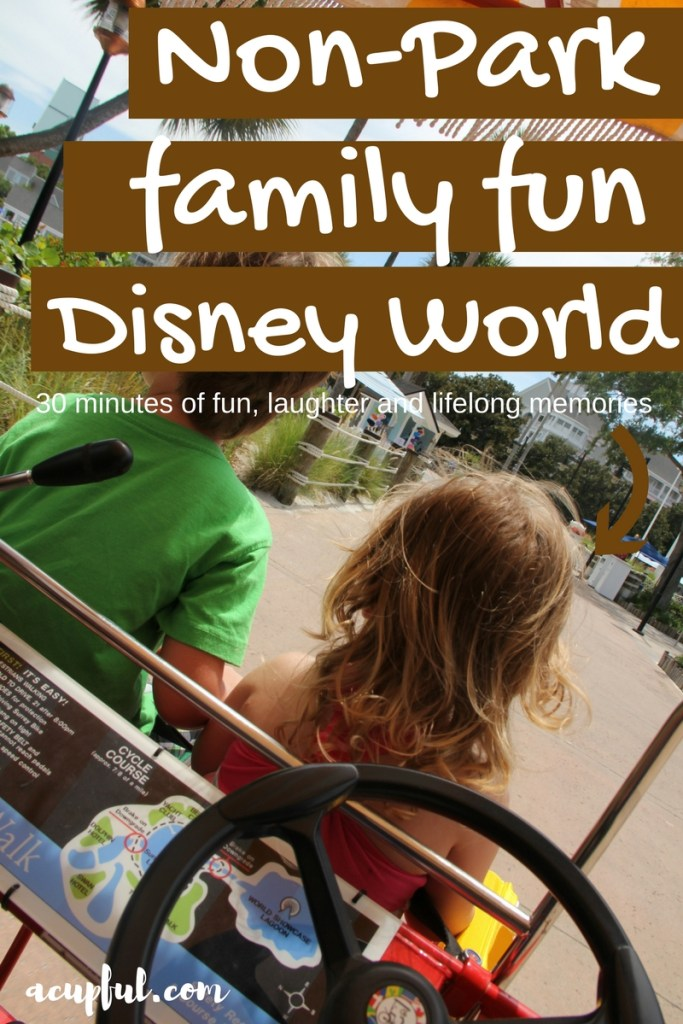 WDW activities not at theme park - surrey bike rental - a cupful of carters - mandy carter