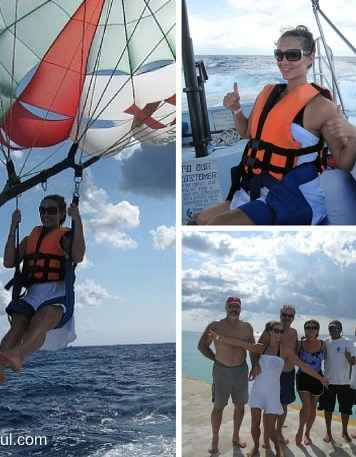 Parasailing at Nachi Cocom Cozumel Cruise Excursion from Mandy Carter at Acupful.com