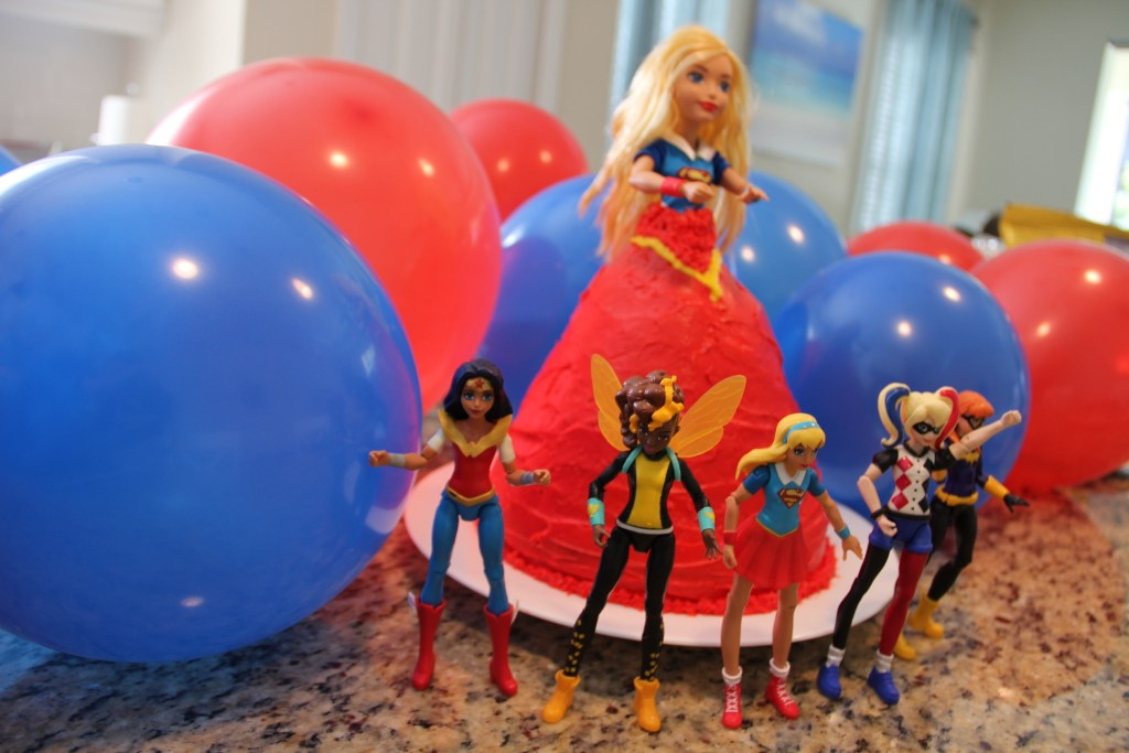 how to make a Supergirl doll cake