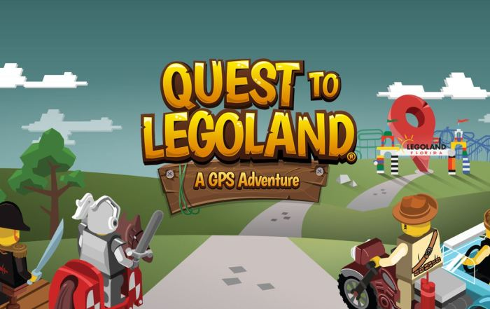 Quest to LEGOLAND app for GPS | tips for using Quest to Legoland Orlando | acupful.com | Mandy Carter | family travel blog | kids app | travel apps | Legoland Orlando tips