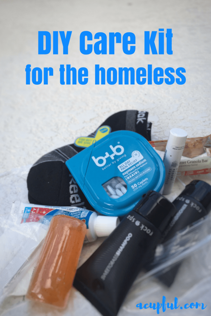 Giveback with b+b OTC medicine - DIY Care Package for Homeless | acupful.com | family giving | volunteer ideas for kids | #betterbygiving | Mandy Carter | best pain reliever