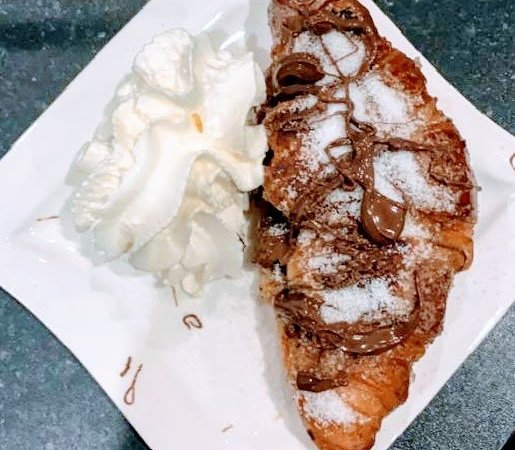 Chocolate Banana Croissant French Toast