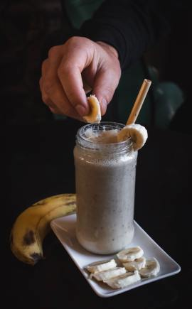 banana shake summer food