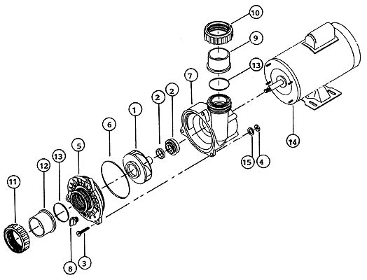 $169.99 Waterway Spa Pump Motor 177782 Free Freight, $169