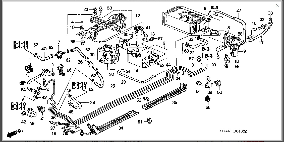 2001 Acura Tl Fuel System Diagram Wiring Schematic