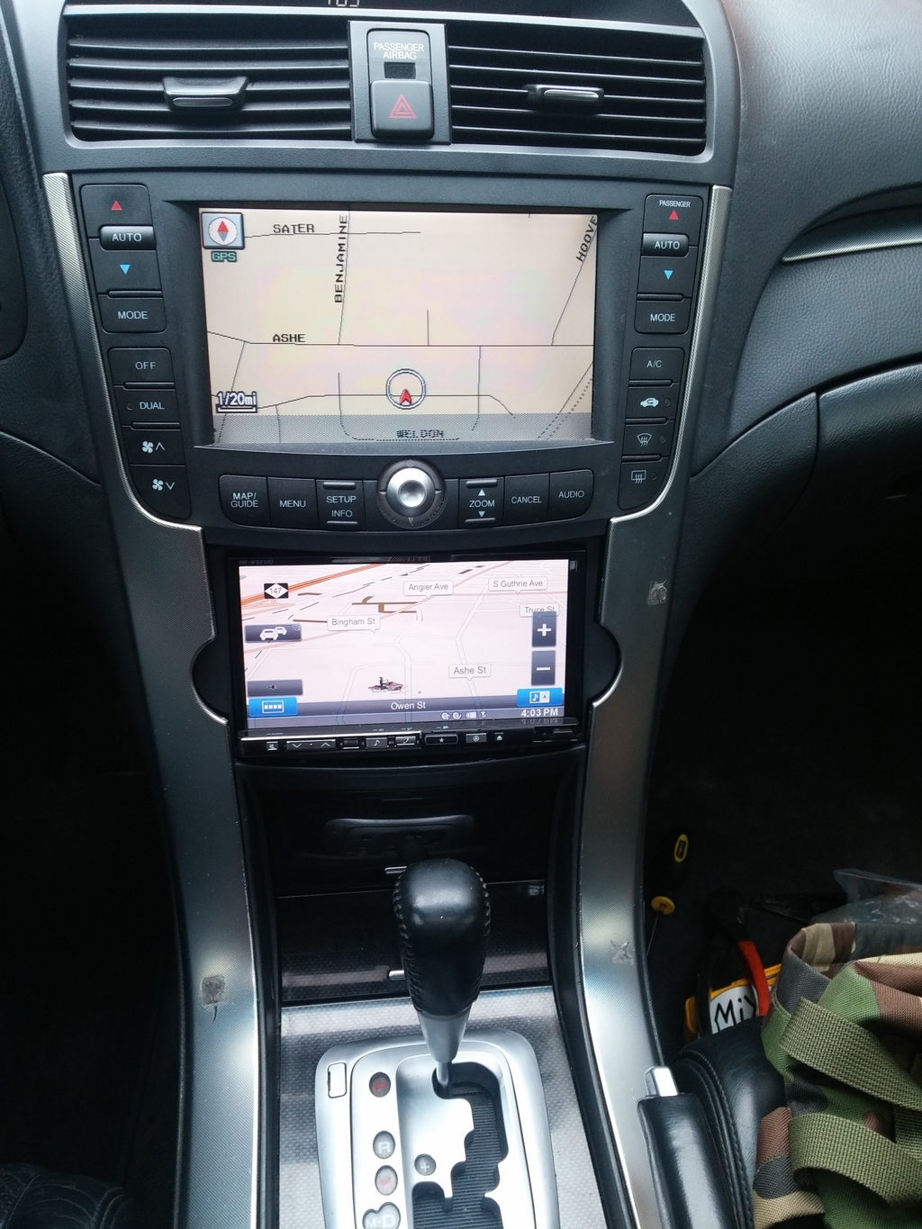 hight resolution of alpine double din 3g acura