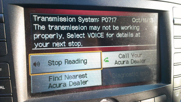 P0717 Transmission While Driving  AcuraZine  Acura