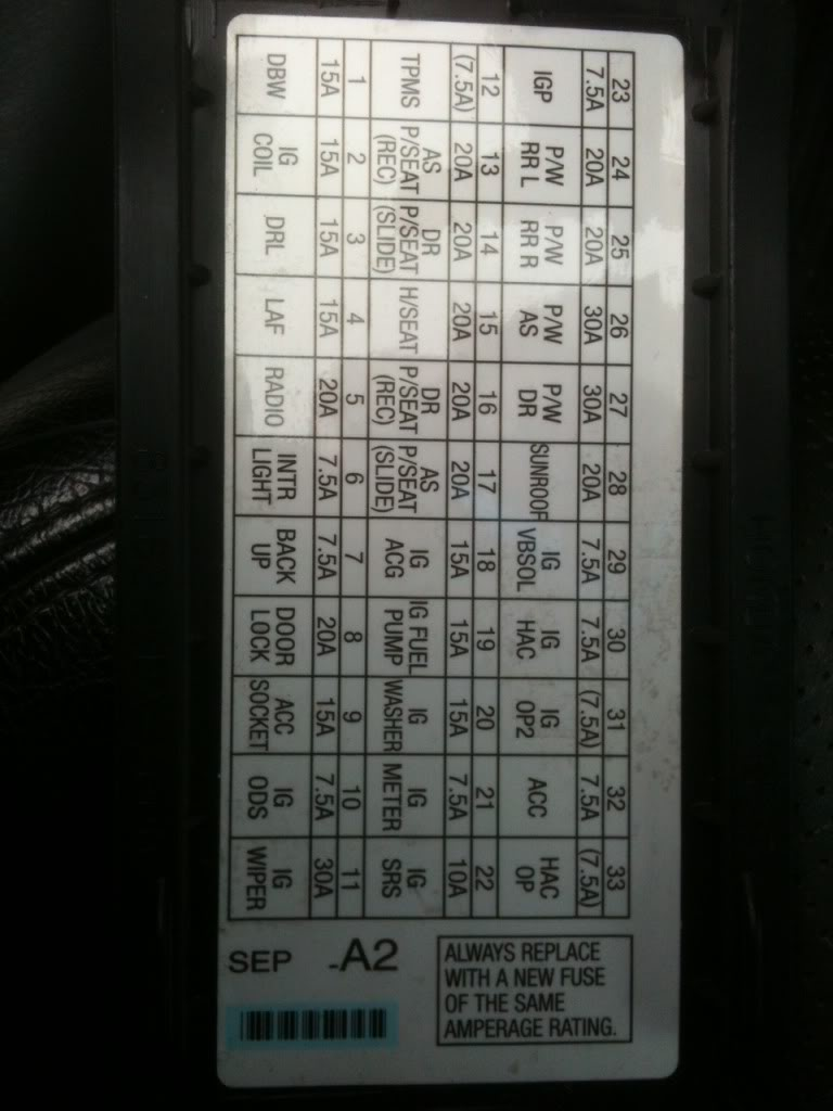 hight resolution of 2012 hyundai santa fe fuse box
