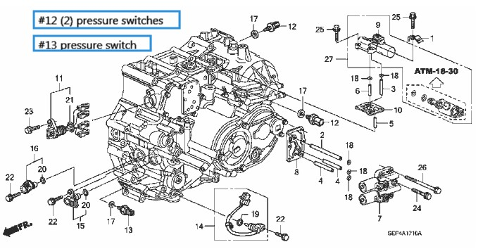 DIY Guide to replacing 3rd & 4th gear pressure switch for
