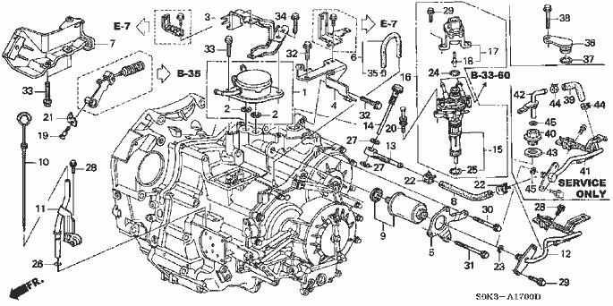 Acura Cl Transmission Diagram. Acura. Auto Parts Catalog