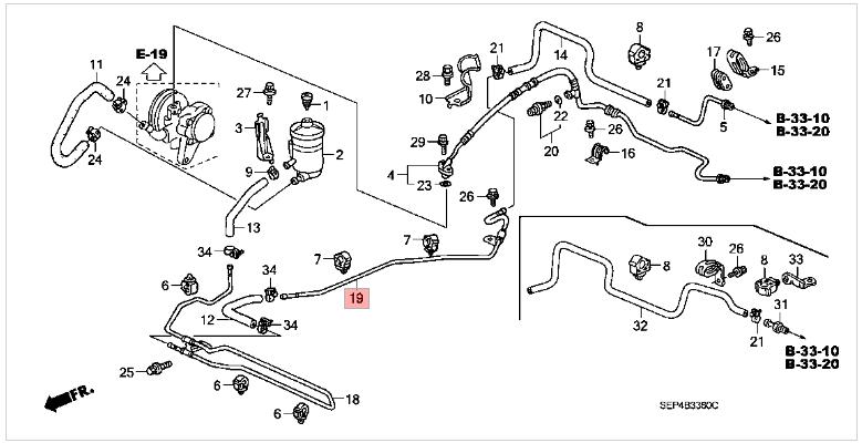 steering diagram 97 camry