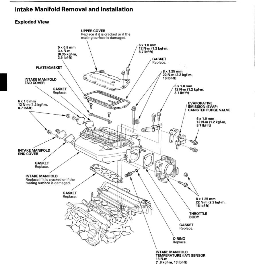 medium resolution of rsx intake manifold engine diagram