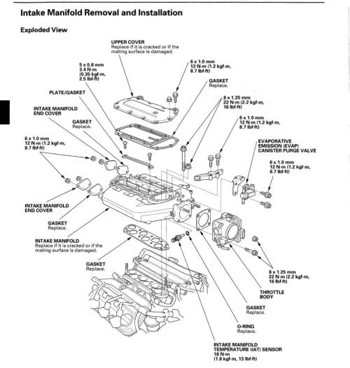 small resolution of rsx intake manifold engine diagram
