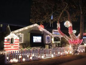 Santa's Theater on Candy Cane Lane in El Segundo, California