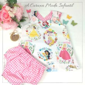 "Vestido de niñas pinafore ""Princesas"""