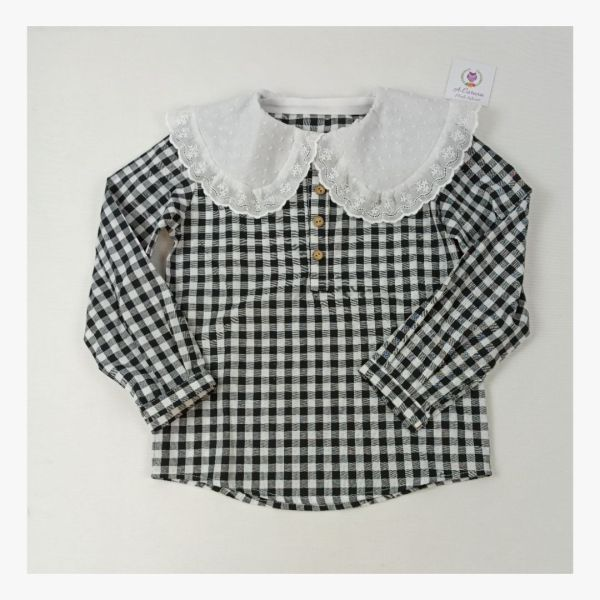 Camisa de niña Vichy