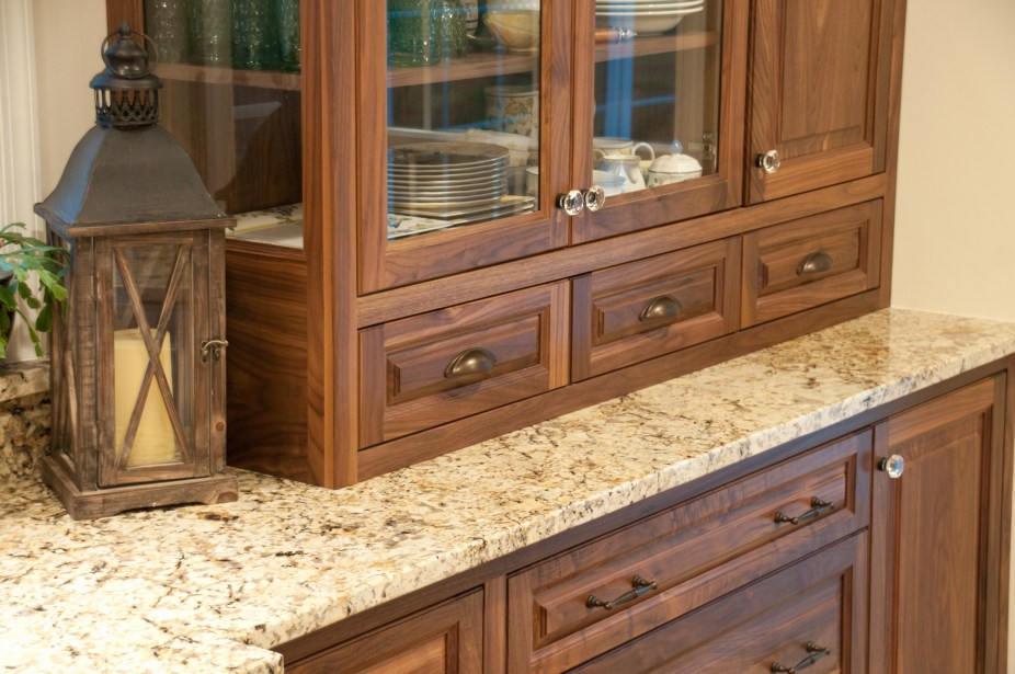 Beautiful walnut cabinetry