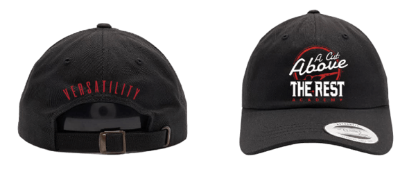Dad hat with a cut above the rest logo