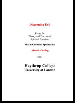 Discerning Evil