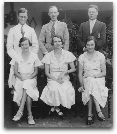 Lesslie & Helen Newbigin, Cecil & Eleanor Cutting, Wilfred & Mary Hulbert 1937