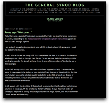 The General Synod blog