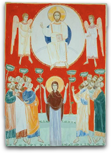 Lord's Ascension - Todor Mitrovic - http://www.balkan-icons.com/