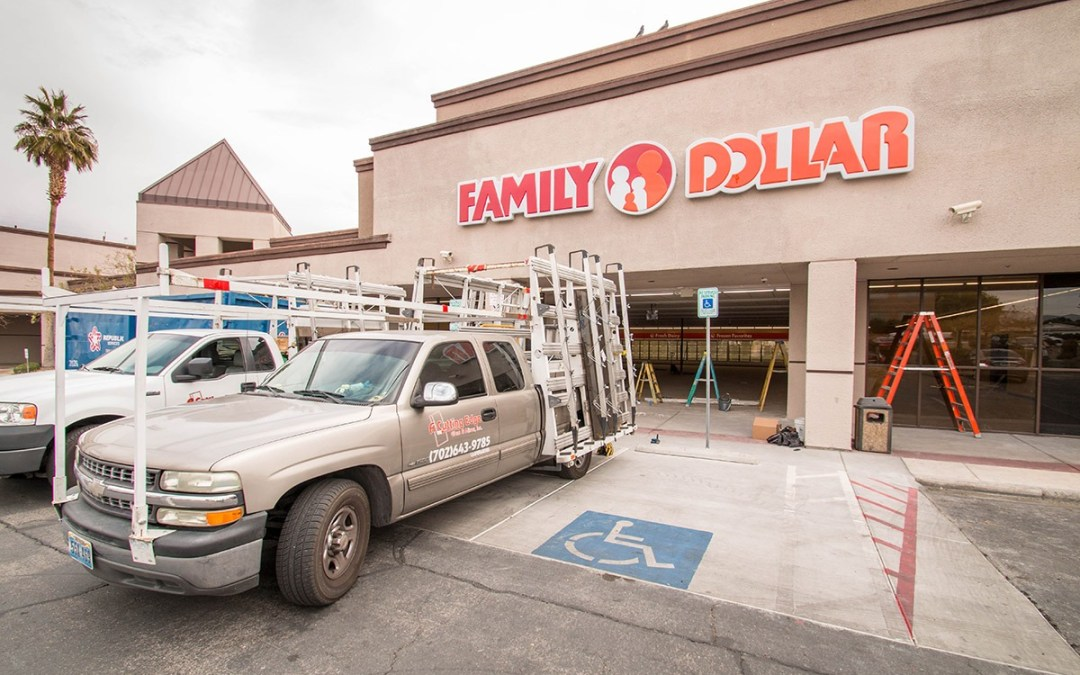 Family Dollar – Commercial Glass Storefront Installation Project