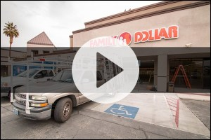 A Cutting Edge Glass & Mirror - Commercial Storefront Project for Familly Dollar of Las Vegas, Nevada