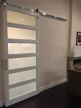 Custom Barn Door Style Glass Door