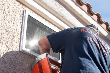 Close-up of Guarda Security Screen Installation