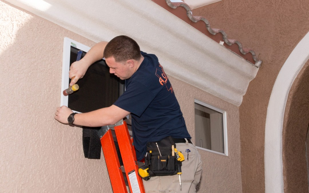 The Summerlin West Security Screen Installation