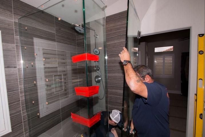 Close-up of 3/8 Inch Shower Door Enclosure