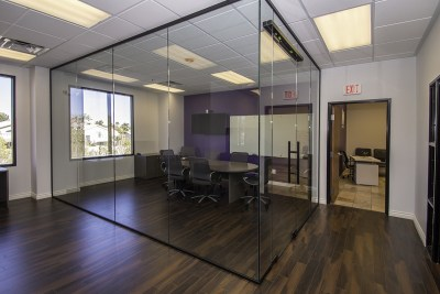 Complete Glass Wall Addition - Building a Divider Wall for New Conference Room