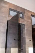 Worm's Eye View of Custom Shower Door Enclosure